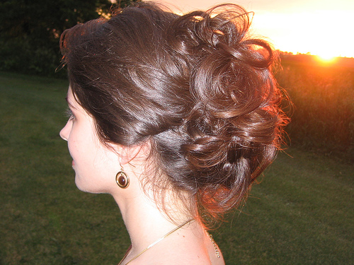 Beauty, Updo, Curly Hair, Hair, Curly, Messy