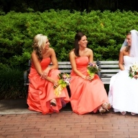Beauty, Flowers & Decor, Bridesmaids, Bridesmaids Dresses, Wedding Dresses, Fashion, white, orange, dress, Bridesmaid Bouquets, Flowers, Hair, Denise gonsales photography, Flower Wedding Dresses