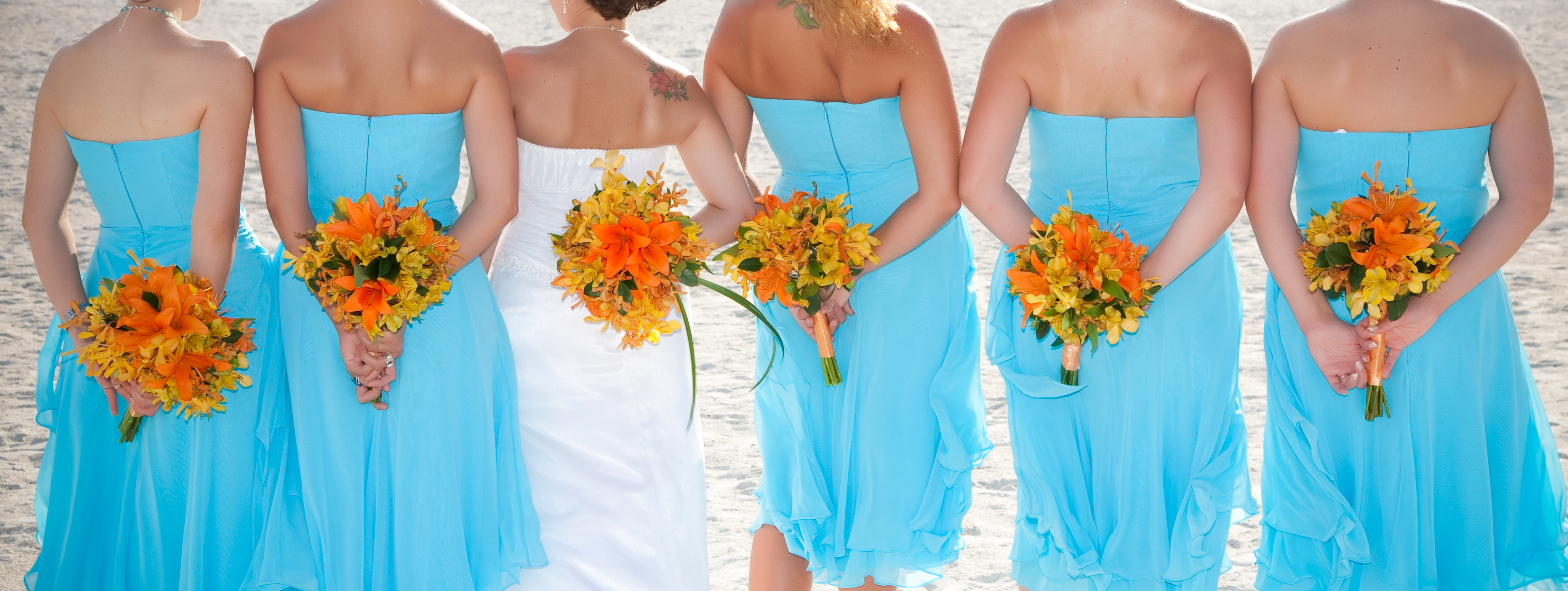 Dang The Color And Dresses Both Are Perfect Wedding Lt 3 Pinterest Orange Flowers Green Bridesmaids Heather O 39 Rourke