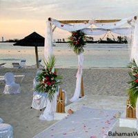Ceremony, Flowers & Decor, white, red, Beach, Beach Wedding Flowers & Decor
