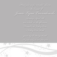 Inspiration, Bridesmaids, Bridesmaids Dresses, Stationery, Fashion, white, black, silver, invitation, Invitations, Wedding, Board, Theme, Stars, Shower, Star, Desimone designs