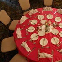 Reception, Flowers & Decor, white, pink, Centerpieces, Tables & Seating, Flowers, Centerpiece, Linens, Tables, Overlay