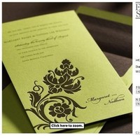 Stationery, green, Invitations