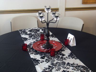 Reception, Flowers & Decor, white, pink, red, black, Centerpieces, Centerpiece, Petals, Design, Linens, Event, Runner, Pink petals event design