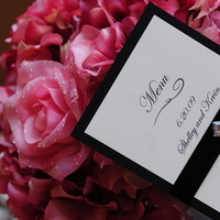 Reception, Flowers & Decor, Stationery, pink, black, Classic Wedding Invitations, Glam Wedding Invitations, Invitations