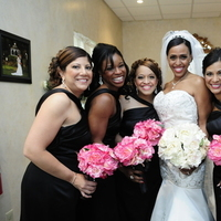 Flowers & Decor, Bridesmaids, Bridesmaids Dresses, Wedding Dresses, Fashion, pink, black, dress, Bridesmaid Bouquets, Flowers, Flower Wedding Dresses