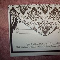 Stationery, white, black, silver, Invitations