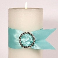 Ceremony, Reception, Flowers & Decor, white, blue, silver, Ceremony Flowers, Centerpieces, Centerpiece, Candle, Unity candle, Aqua, Rhinestone, Your wedding company, Accent, Tiffany blue, Buckle, Pillar candle