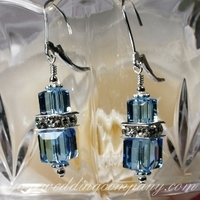 Jewelry, Bridesmaids, Bridesmaids Dresses, Fashion, blue, silver, Earrings, Bridesmaid, Swarovski, Rhinestone, Your wedding company, Sterling