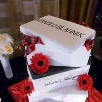 Cakes, white, red, black, cake, Jacy cakes llc