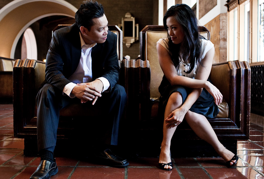 Engagement session, Union station, Henry chan photography