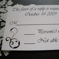 Stationery, white, black, Invitations, Rsvp card, Postcardscom