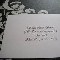 Stationery, white, black, Invitations, Envelope