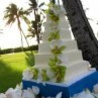 Cakes, white, blue, green, cake
