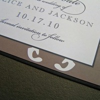 Inspiration, Stationery, brown, black, Invitations, Board, The, Save, Date, Damask, The write touch