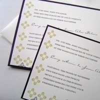 Inspiration, Stationery, purple, brown, invitation, Invitations, Wedding, Board, Scroll, Damask, Layered, The write touch, Ornater