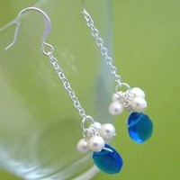 Jewelry, Bridesmaids, Bridesmaids Dresses, Fashion, white, blue, silver, Spiffing jewelry