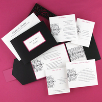 Inspiration, Stationery, white, pink, black, Classic Wedding Invitations, Invitations, Wedding, Board, Scroll, Pocket, Damask, Craft, Carlson, Pockets, The write touch