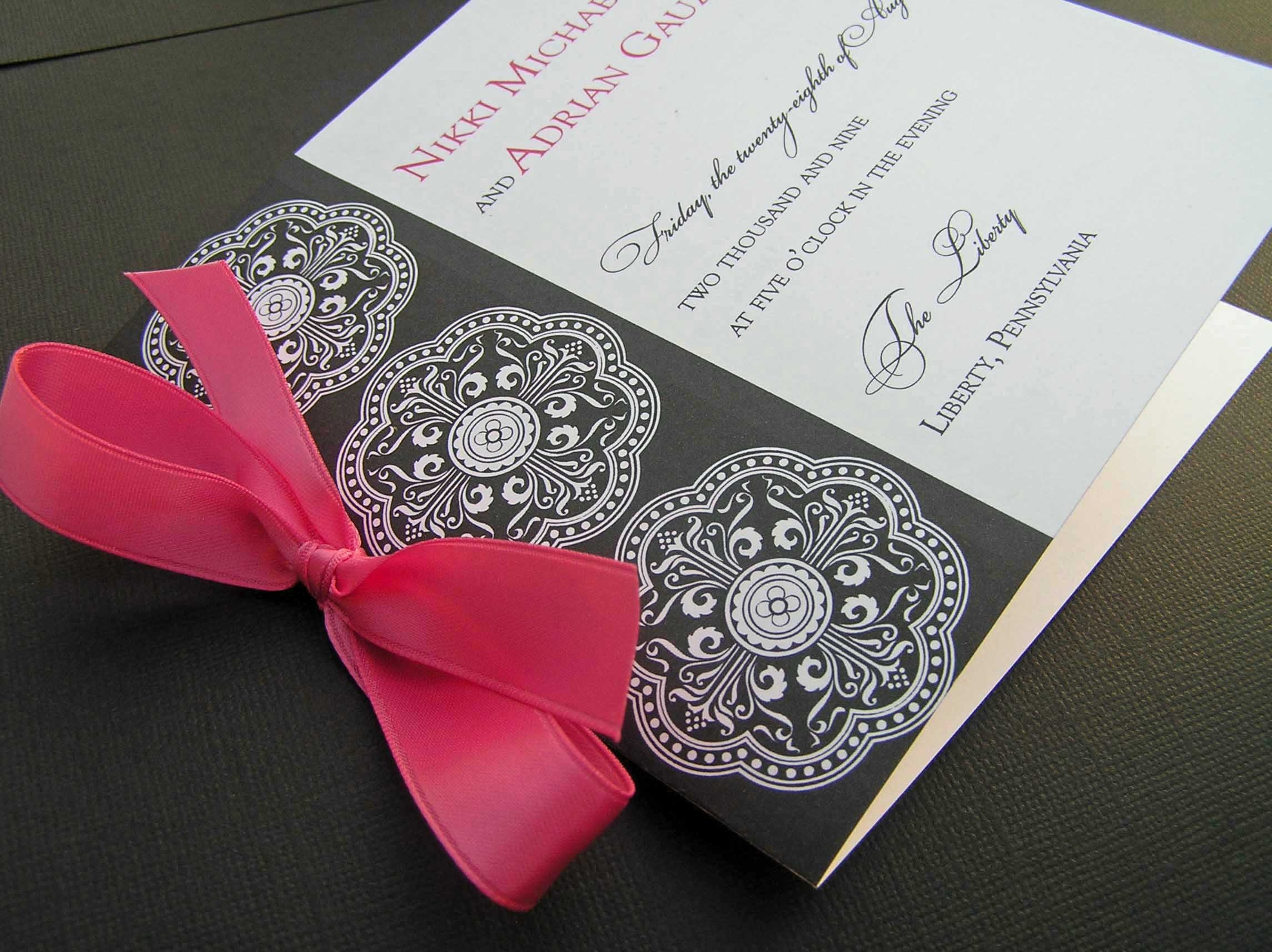 Ceremony, Inspiration, Flowers & Decor, Stationery, white, black, Invitations, Wedding, Program, Board, Damask, The write touch