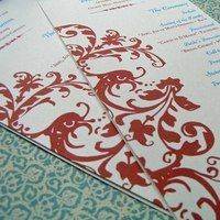 Ceremony, Inspiration, Flowers & Decor, Stationery, orange, Invitations, Wedding, Program, Board, The write touch