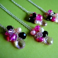 Jewelry, Bridesmaids, Bridesmaids Dresses, Fashion, white, pink, black, silver, Spiffing jewelry