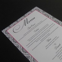 Inspiration, Stationery, white, pink, black, Invitations, Menu, Wedding, Table, Board, Damask, The write touch