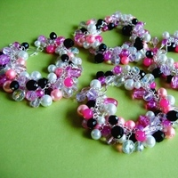 Jewelry, Bridesmaids, Bridesmaids Dresses, Fashion, white, pink, black, Spiffing jewelry