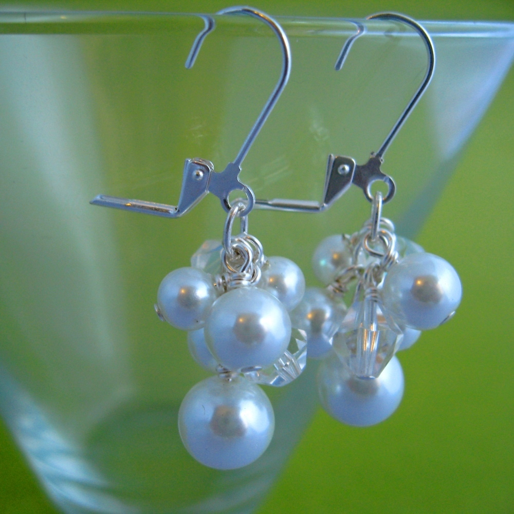 Jewelry, white, Earrings, Crystal, Pearl, Spiffing jewelry