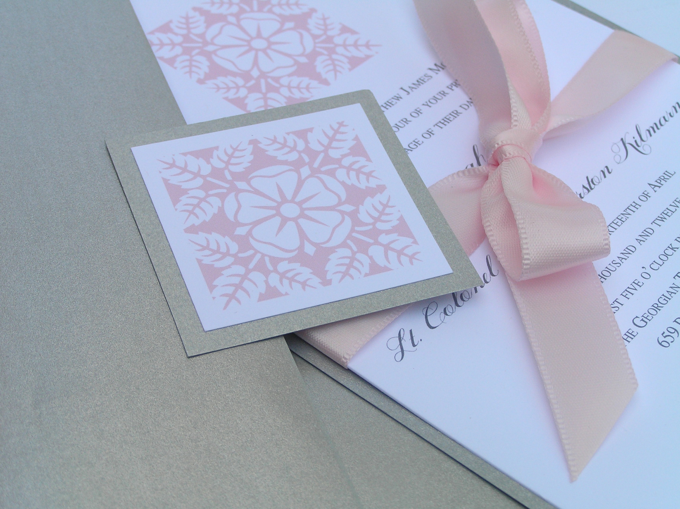 Inspiration, Stationery, white, pink, silver, invitation, Invitations, Wedding, Floral, Board, Layered, The write touch