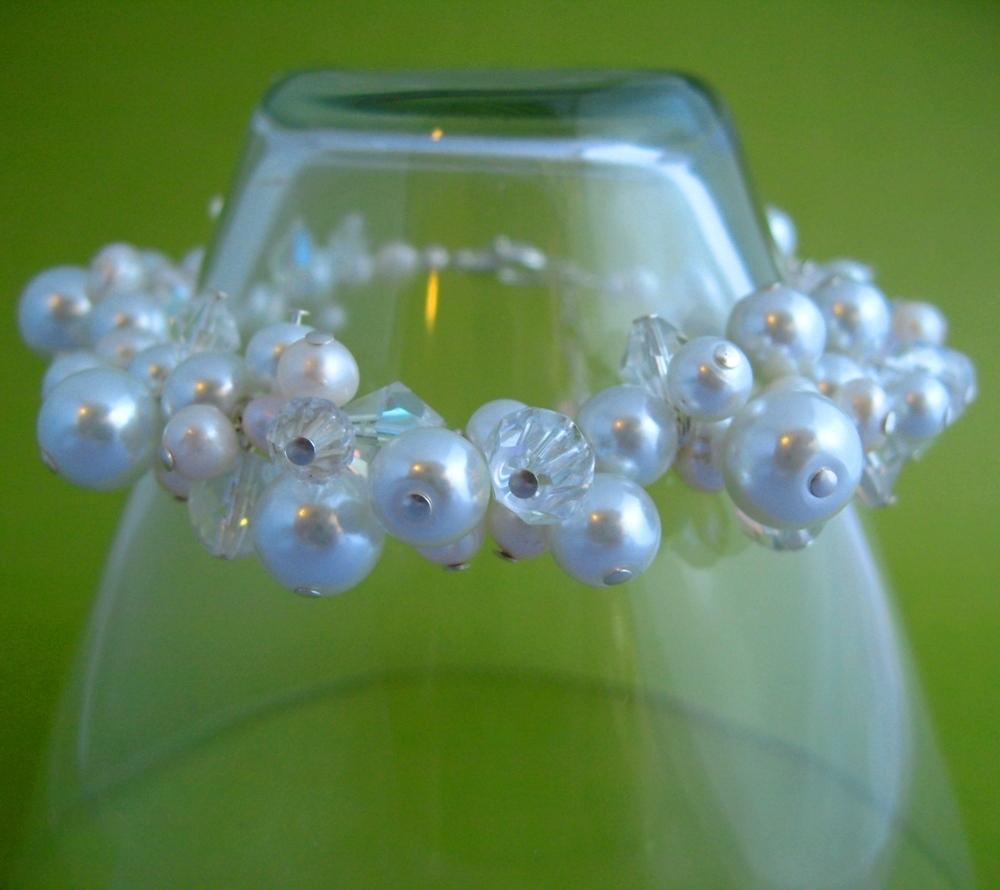 Jewelry, white, silver, Bracelets, Crystal, Bracelet, Pearl, Spiffing jewelry