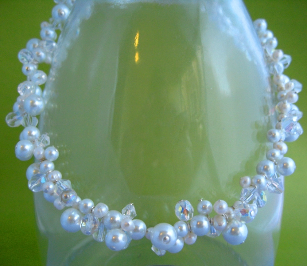 Jewelry, white, silver, Necklaces, Crystal, Necklace, Pearl, Spiffing jewelry