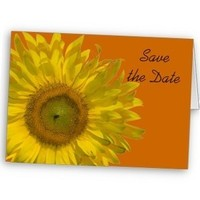Flowers & Decor, Stationery, yellow, orange, Announcements, Flower, Save the date, Floral, Announcement, Sunflower, Announce, A wedding collection by lora severson photography, Wedding save the date, Sunflower wedding, Floral wedding, Floral save the date