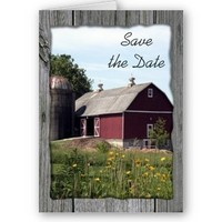 Stationery, red, blue, green, Announcements, Invitations, Save-the-Dates, Save the date, Barn, Announcement, Country, Farm, Casual, Announce, A wedding collection by lora severson photography, Wedding save the date, Rural, Barn wedding, Farm wedding, Country wedding, Red barn