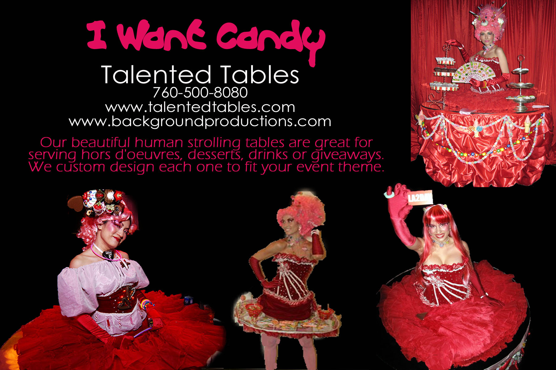 Reception, Flowers & Decor, Cakes, pink, red, cake, Tables & Seating, Candy, Tables, Desserts, Strolling, Strolling tables - talented tables