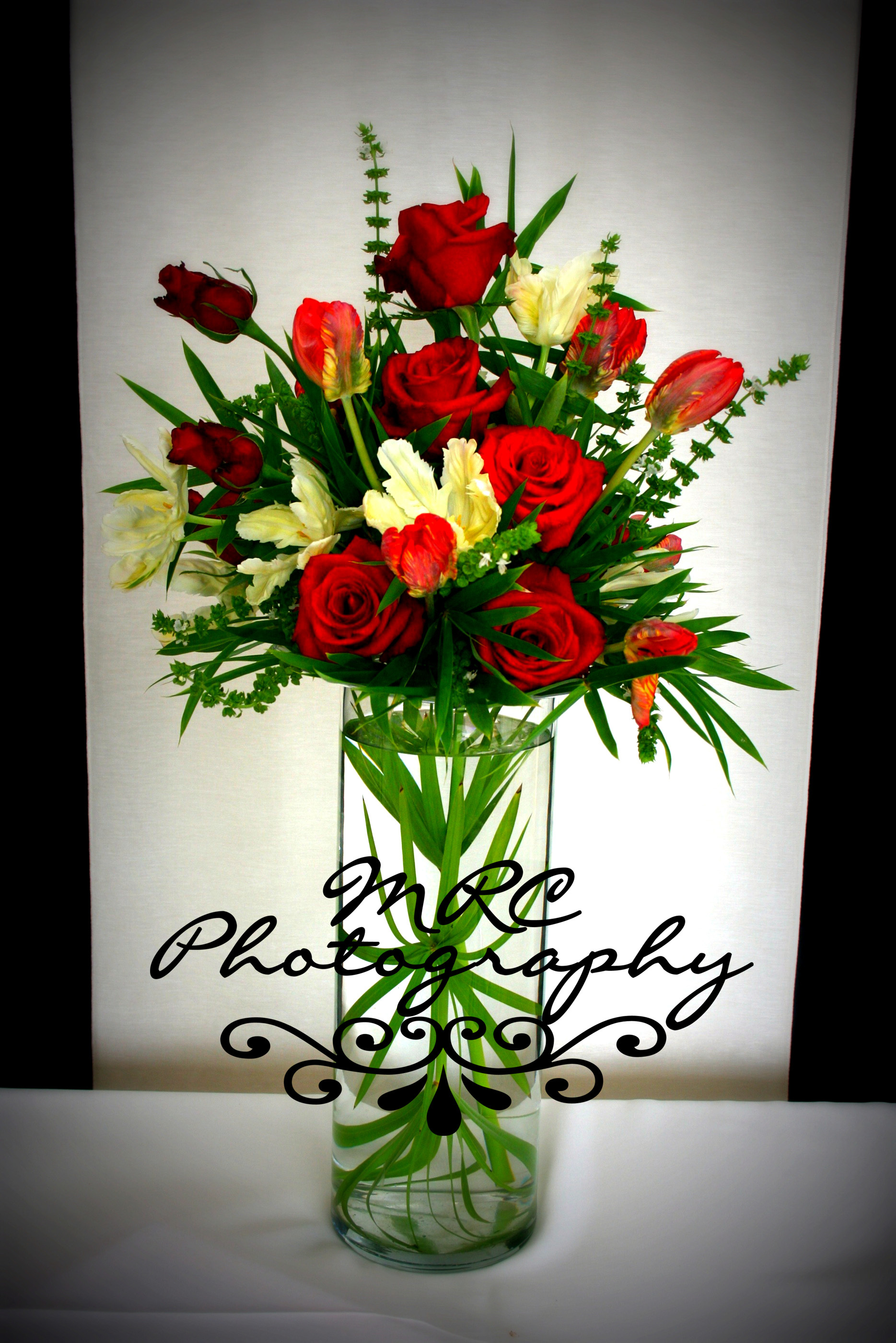Reception, Flowers & Decor, white, red, black, Flowers, Mrc photography