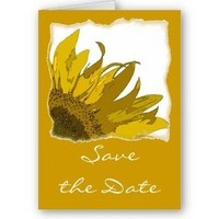 Flowers & Decor, Stationery, yellow, Announcements, Invitations, Save-the-Dates, Flower, Save the date, Floral, Announcement, Sunflower, Announce, A wedding collection by lora severson photography, Wedding save the date, Sunflower wedding, Floral wedding