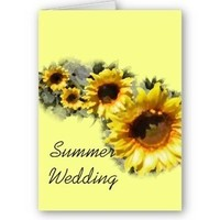 Flowers & Decor, Stationery, yellow, Summer, Announcements, Invitations, Save-the-Dates, Flower, Save the date, Floral, Announcement, Summer wedding, Sunflower, Announce, A wedding collection by lora severson photography, Wedding save the date, Sunflower wedding, Floral wedding