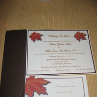 Stationery, orange, brown, Invitations