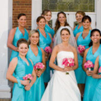 Bridesmaids, Bridesmaids Dresses, Fashion, orange, pink, blue