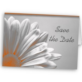 Flowers & Decor, Stationery, orange, silver, Announcements, Invitations, Save-the-Dates, Flower, Save the date, Floral, Blossom, Petals, Announcement, Announce, A wedding collection by lora severson photography, Wedding save the date, Floral wedding