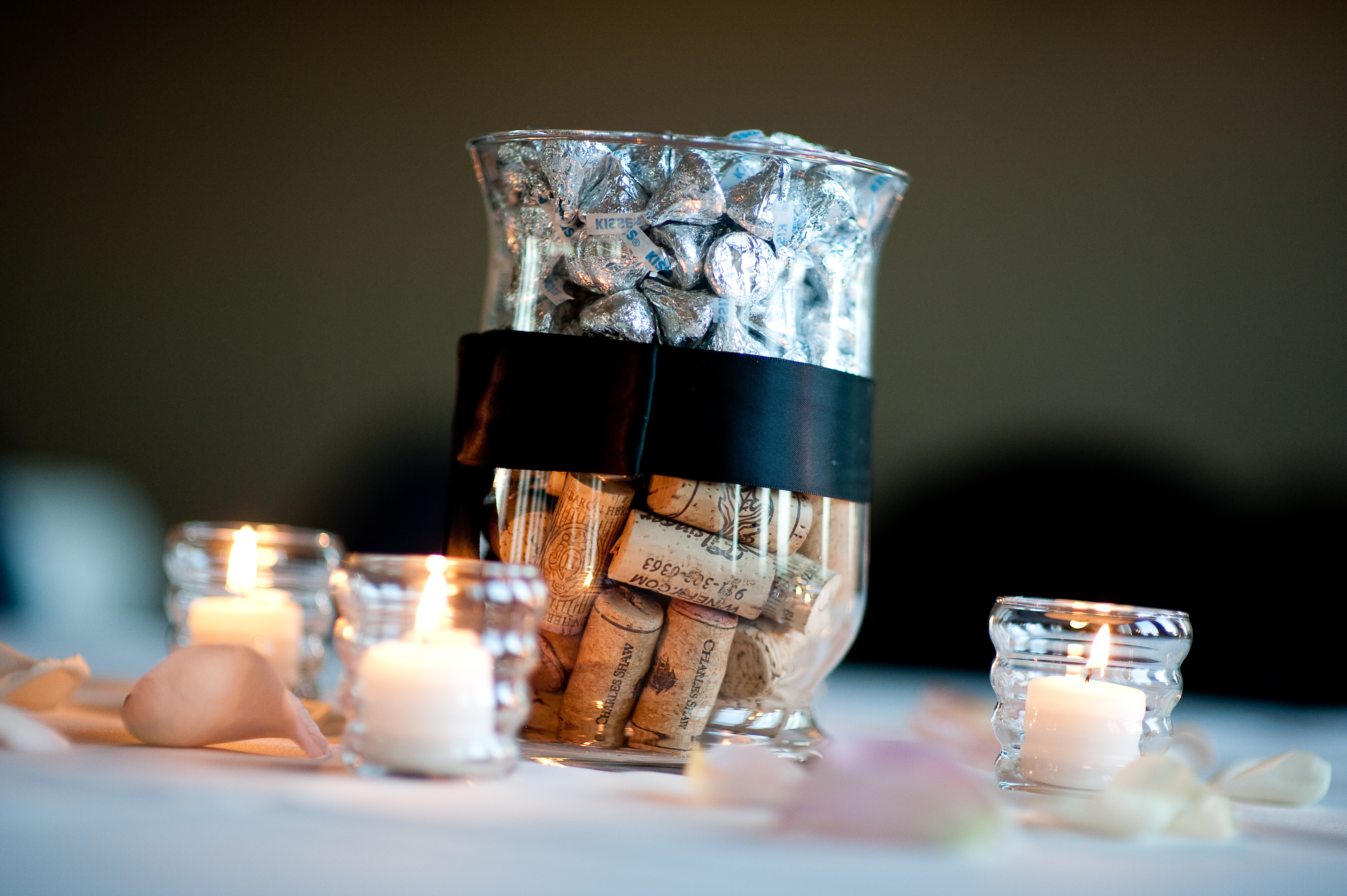 DIY, Reception, Flowers & Decor, black, Centerpieces, Centerpiece, Corks
