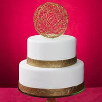 Cakes, white, gold, cake