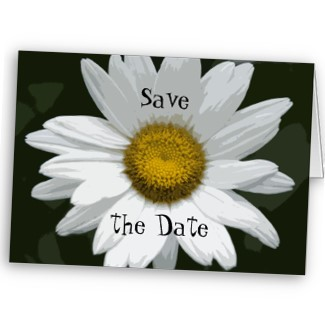 Flowers & Decor, Stationery, white, green, Announcements, Invitations, Save-the-Dates, Flower, Save the date, Floral, Daisy, Blossom, Announcement, Nature, Announce, A wedding collection by lora severson photography, Wedding save the date, Floral wedding, White daisy