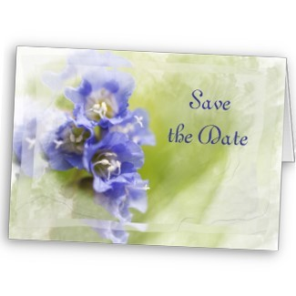 Flowers & Decor, Stationery, purple, blue, Announcements, Invitations, Save-the-Dates, Flower, Save the date, Floral, Blossom, Announcement, Purple flowers, Announce, A wedding collection by lora severson photography, Wedding save the date, Floral wedding, Blue flowers