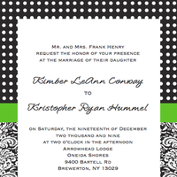 Stationery, white, green, black, Modern, Invitations, Fun, Special, Damask, Dots, Flora, Different, Handmade, Bold, Indie, Exciting, Karicreative