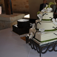 Cakes, green, cake, Wedding