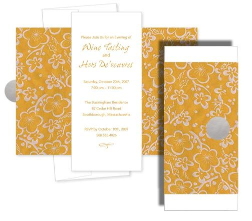 Stationery, white, yellow, orange, Invitations, Tower, Wrapped, Platinum invitations stationery, Thin
