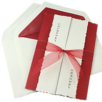 Stationery, white, red, Invitations, Platinum invitations stationery