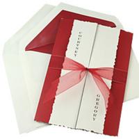 Stationery, white, red, Invitations, Platinum invitations stationery
