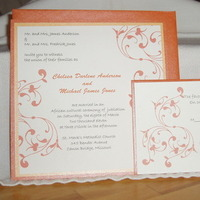 Stationery, white, yellow, orange, Invitations, Platinum invitations stationery